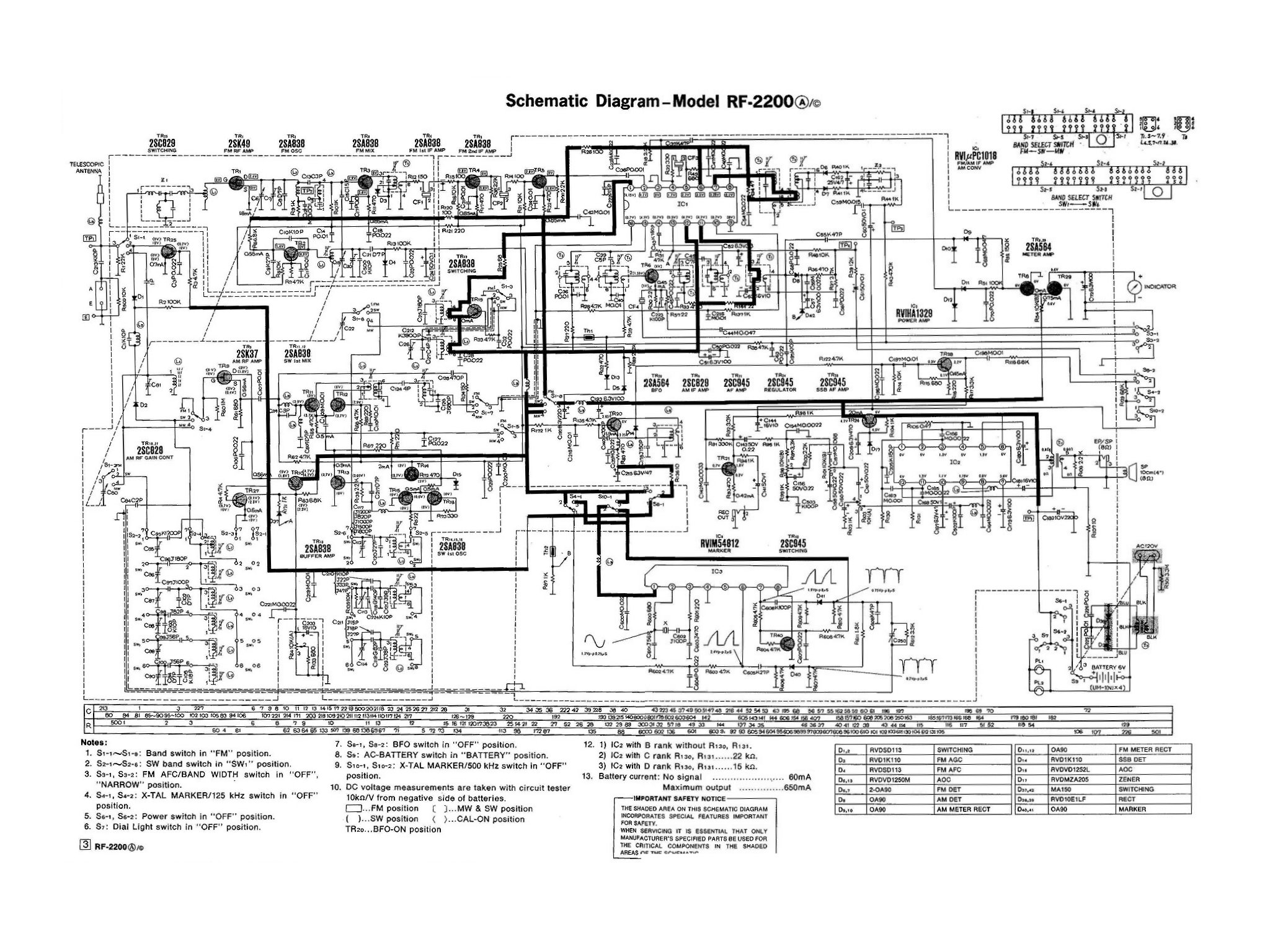 Panasonic Schematic Diagram Circuit